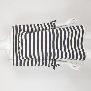 J. Crew Striped Off the Shoulder Shift Dress XS